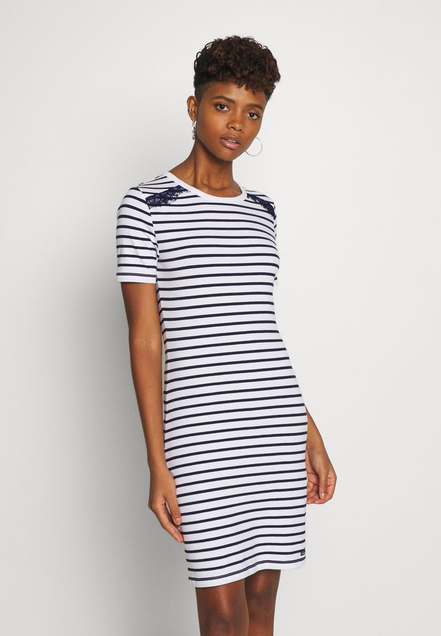 EDEN MIX DRESS - Jerseyjurk - white