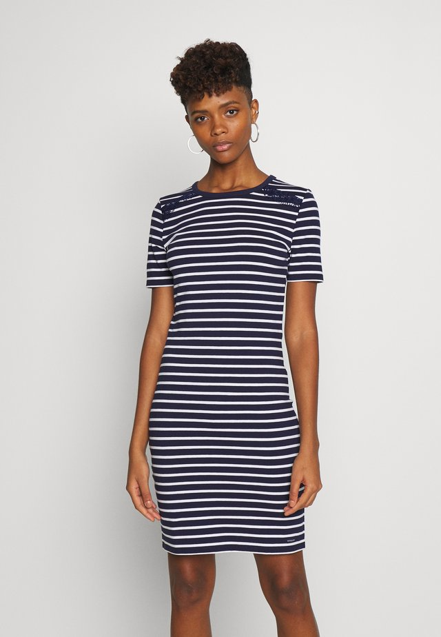 EDEN MIX DRESS - Jerseyjurk - navy