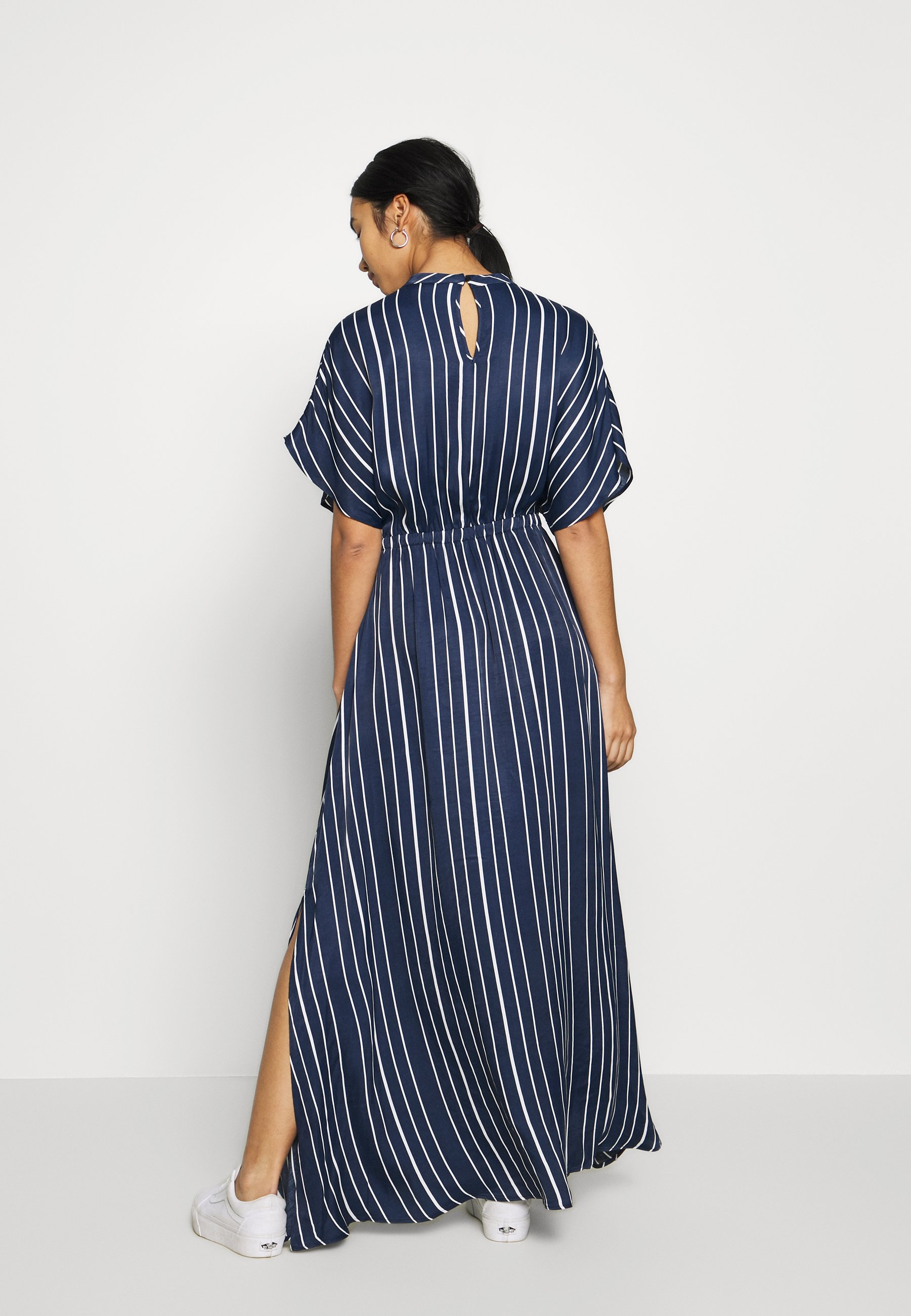 Superdry EDIT MAXI DRESS - Długa sukienka - navy stripe