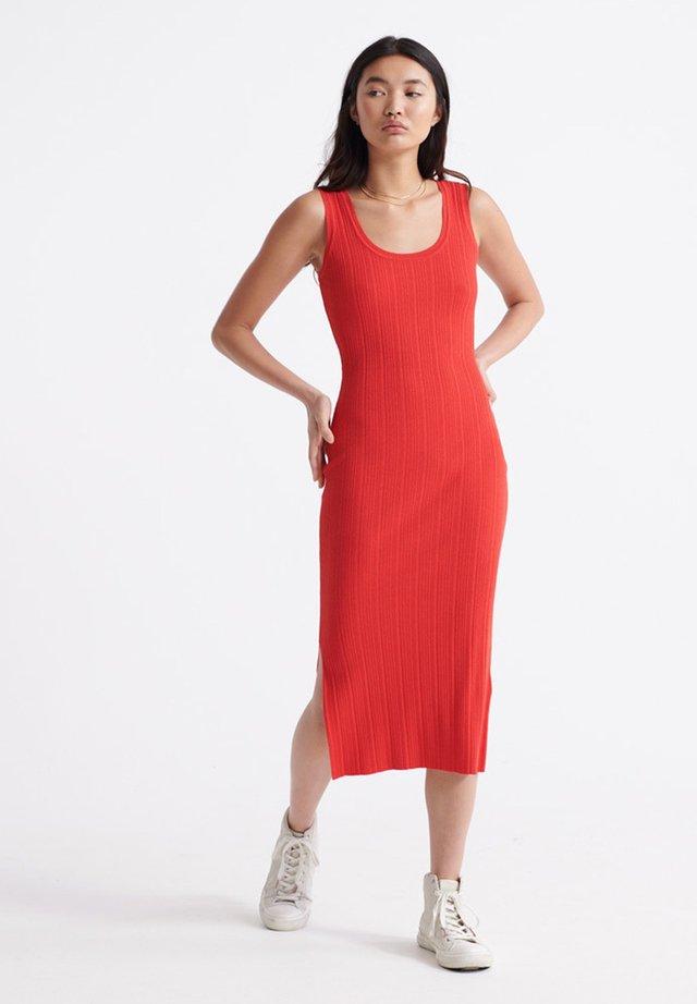 Vestido de punto - apple red