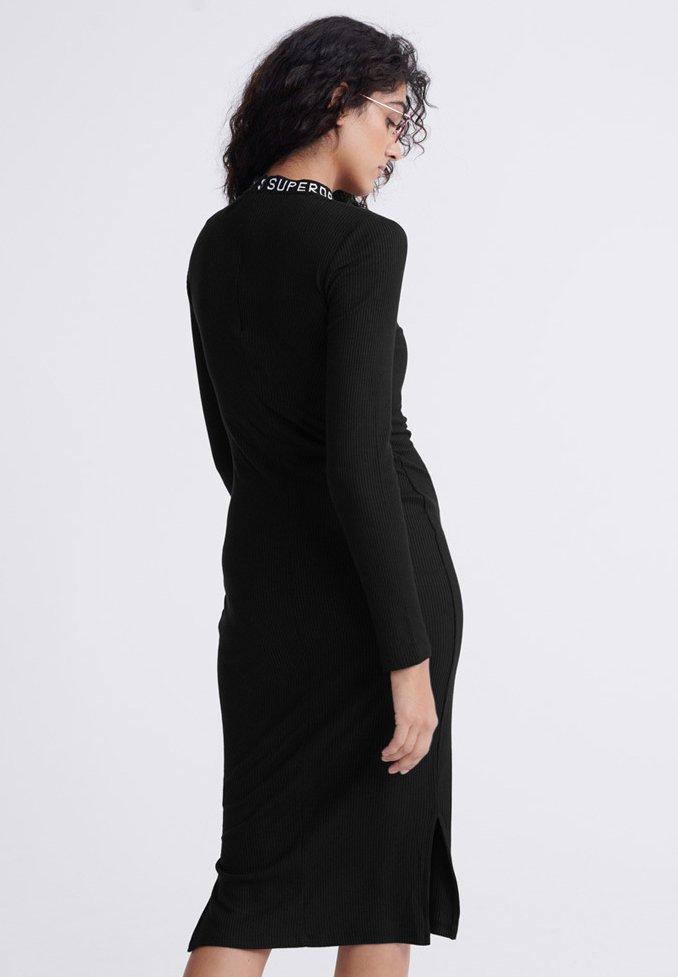 Superdry JACQUARD BODYCON - Sukienka etui - black
