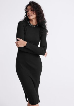 JACQUARD BODYCON  - Shift dress - black