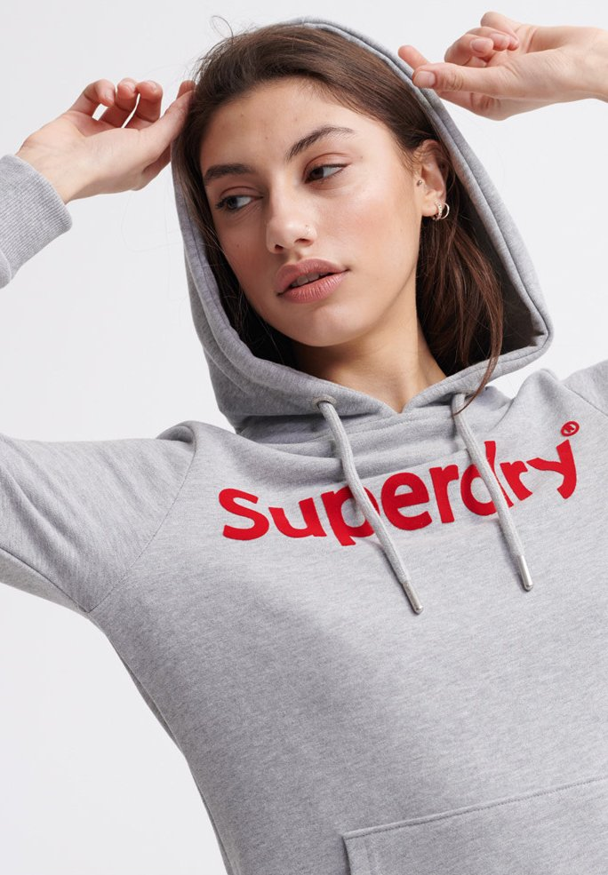 Superdry Core Graphic - Vardagsklänning Grey Marl