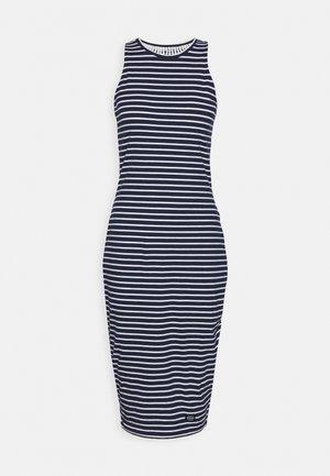 CROCHET INSERT DRESS - Jerseyjurk - navy