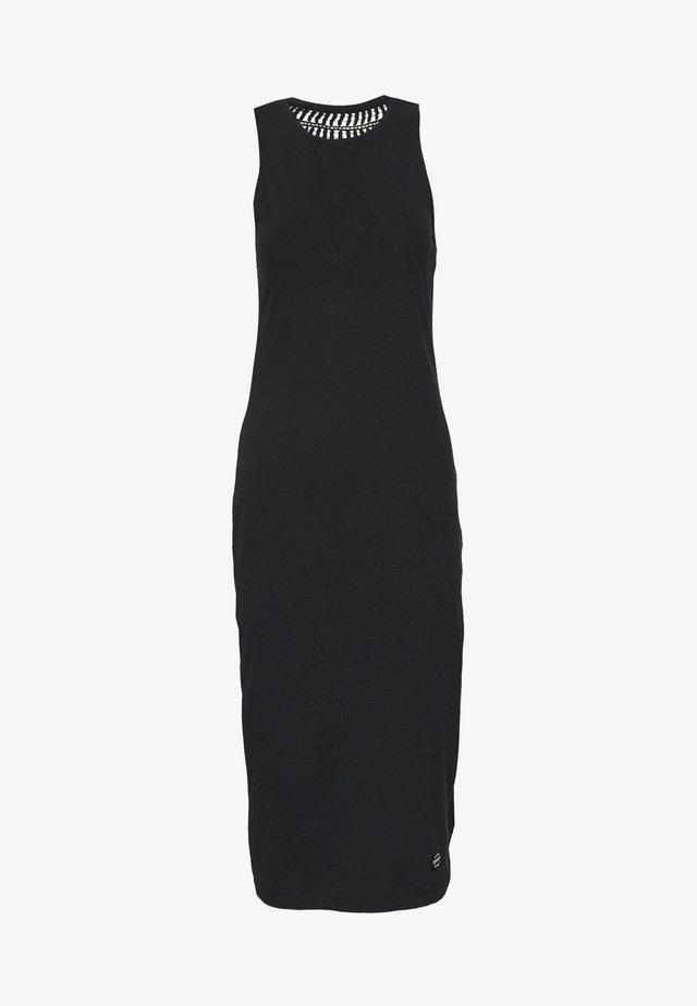 CROCHET INSERT DRESS - Etui-jurk - black
