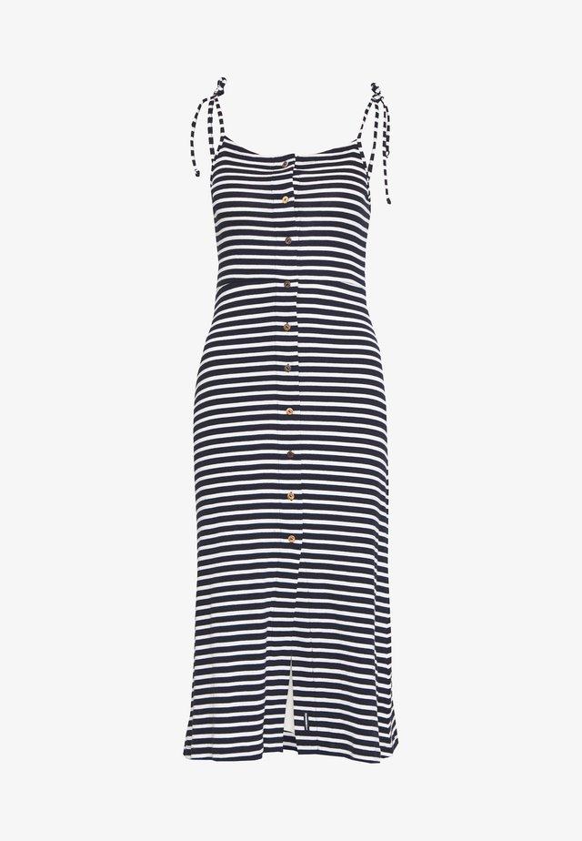 CHARLOTTE BUTTON DOWN DRESS - Vestido ligero - navy