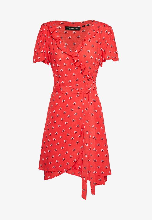 SUMMER WRAP DRESS - Korte jurk - red