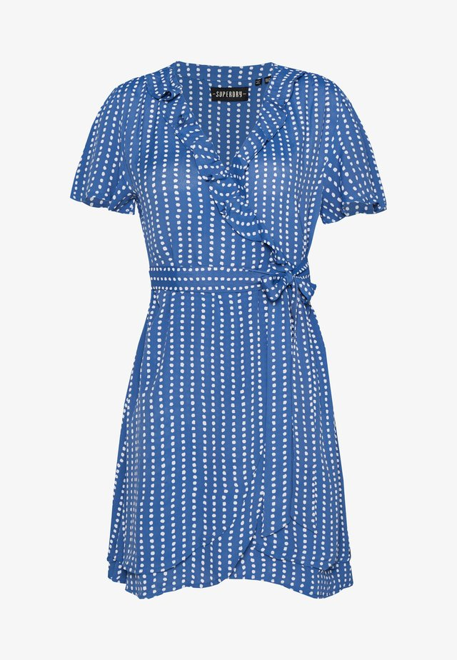 SUMMER WRAP DRESS - Korte jurk - blue