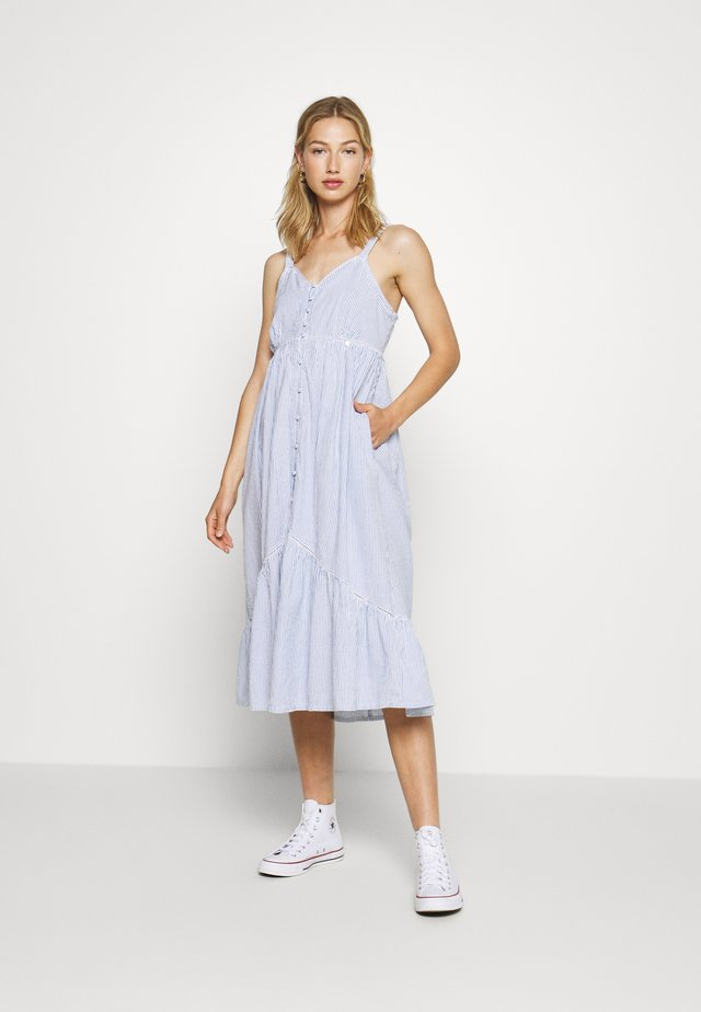 DAISY MIDI - Korte jurk - blue stripe