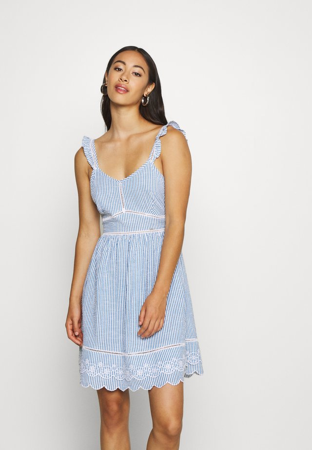 GIA CAMI DRESS - Korte jurk - blue