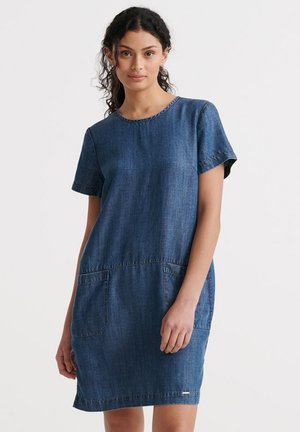 SUPERDRY DESERT DRESS - Farkkumekko - indigo light