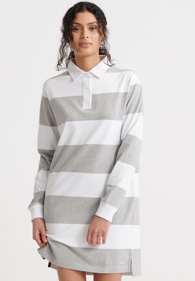 SUPERDRY SUMMER RUGBY DRESS - Sukienka letnia - grey marl