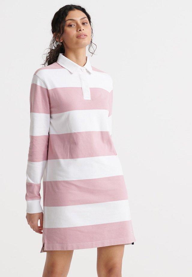 SUPERDRY SUMMER RUGBY DRESS - Sukienka letnia - soft pink