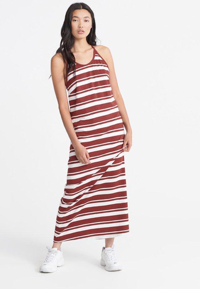 SUPERDRY SUMMER STRIPE MAXI DRESS - Korte jurk - rosewood