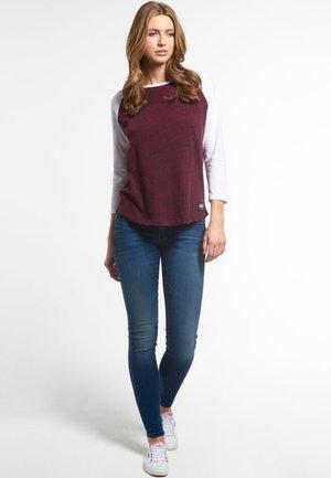 T-shirt à manches longues - rugged maroon/optic