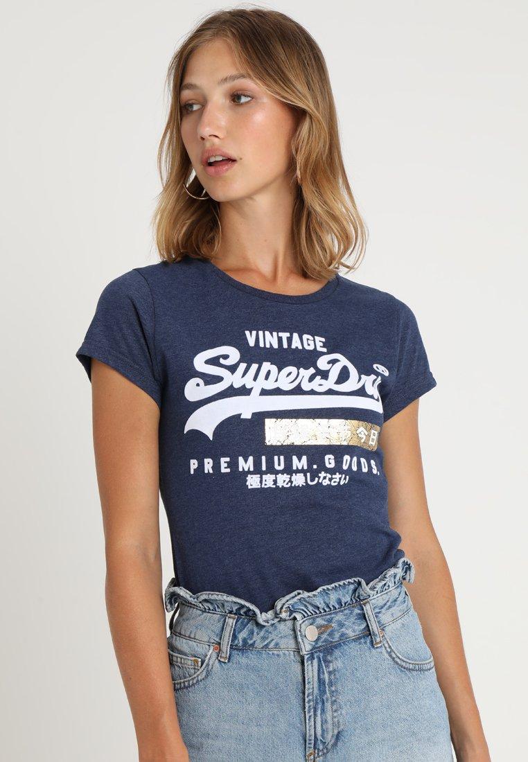 Superdry - PREMIUM GOODS SPORT ENTRY TEE - T-Shirt print - princedom blue marl