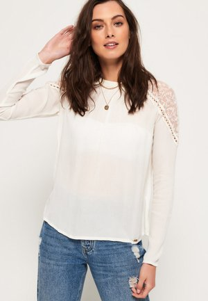 KRISTLE COLD SHOULDER - Blusa - white