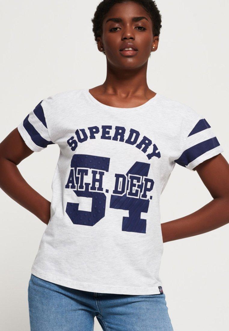 Superdry - BOYFRIEND - Print T-shirt - white