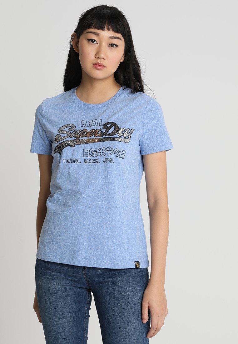 Superdry - VINTAGE LOGO CARNIVAL ENTRY TEE - T-shirt imprimé - cruz blue snowy