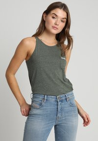 Superdry - ESSENTIAL TANK - Top - washed khaki - 0
