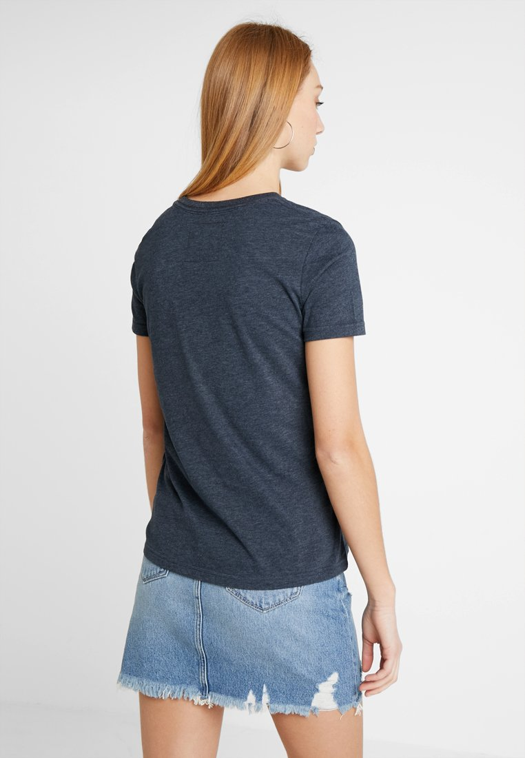 Superdry VINTAGE LOGO CASCADE ENTRY TEE - T-shirts med print - eclipse navy