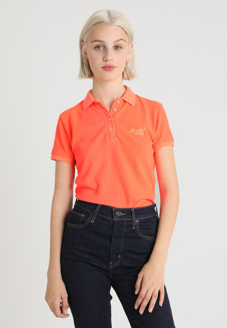 Superdry - Polo shirt - neon coral
