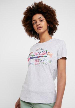 LOGO PHOTO TROPICAL INFILL ENTRY TEE - Camiseta estampada - ice marl