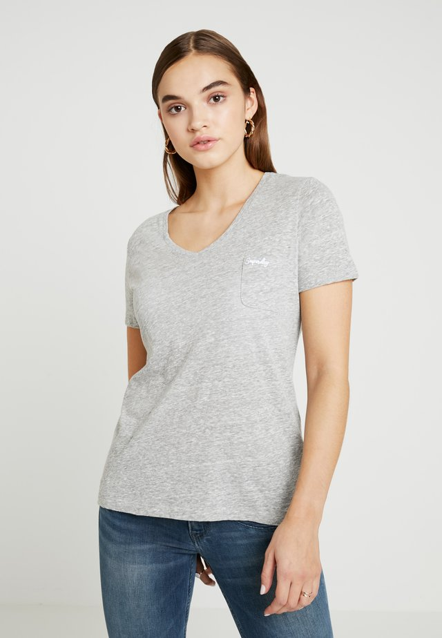 ESSENTIAL TEE - T-shirt basic - mid grey marl