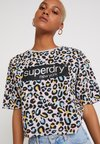 Superdry - GRAPHIC TEE - T-Shirt print - rose/multi-coloured