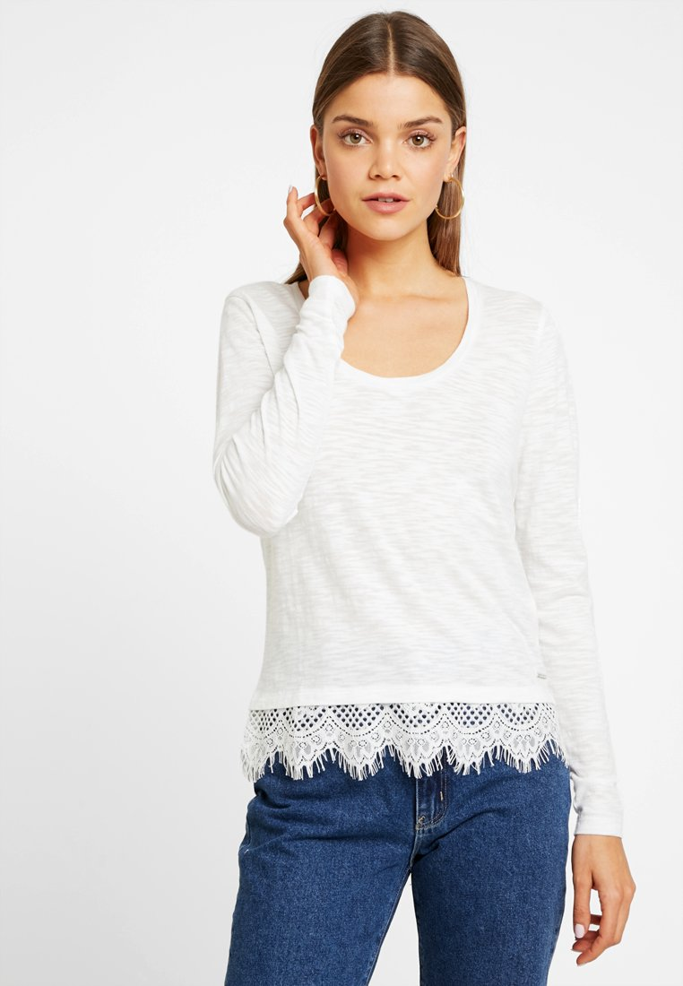 Superdry - ASHBY HEM - Strickpullover - white