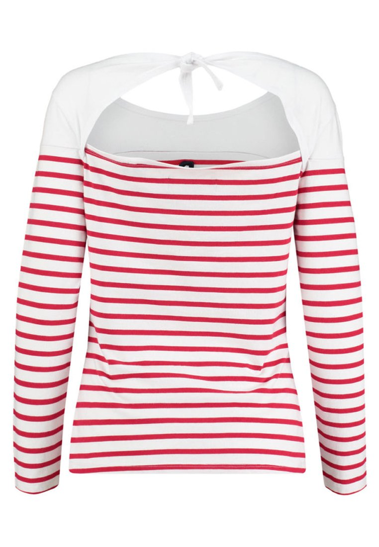 Superdry Callie Twist Back - T-shirt À Manches Longues Red/white
