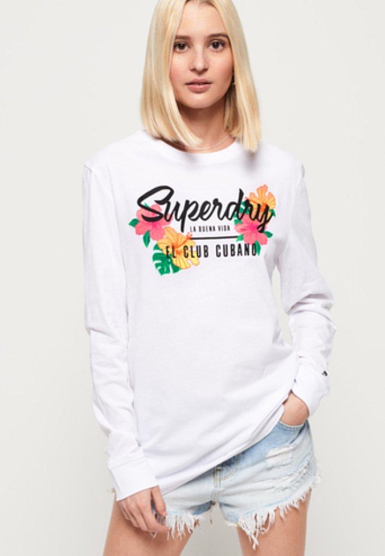 Superdry JADEN STRIPE - Topper langermet - chilli pepper