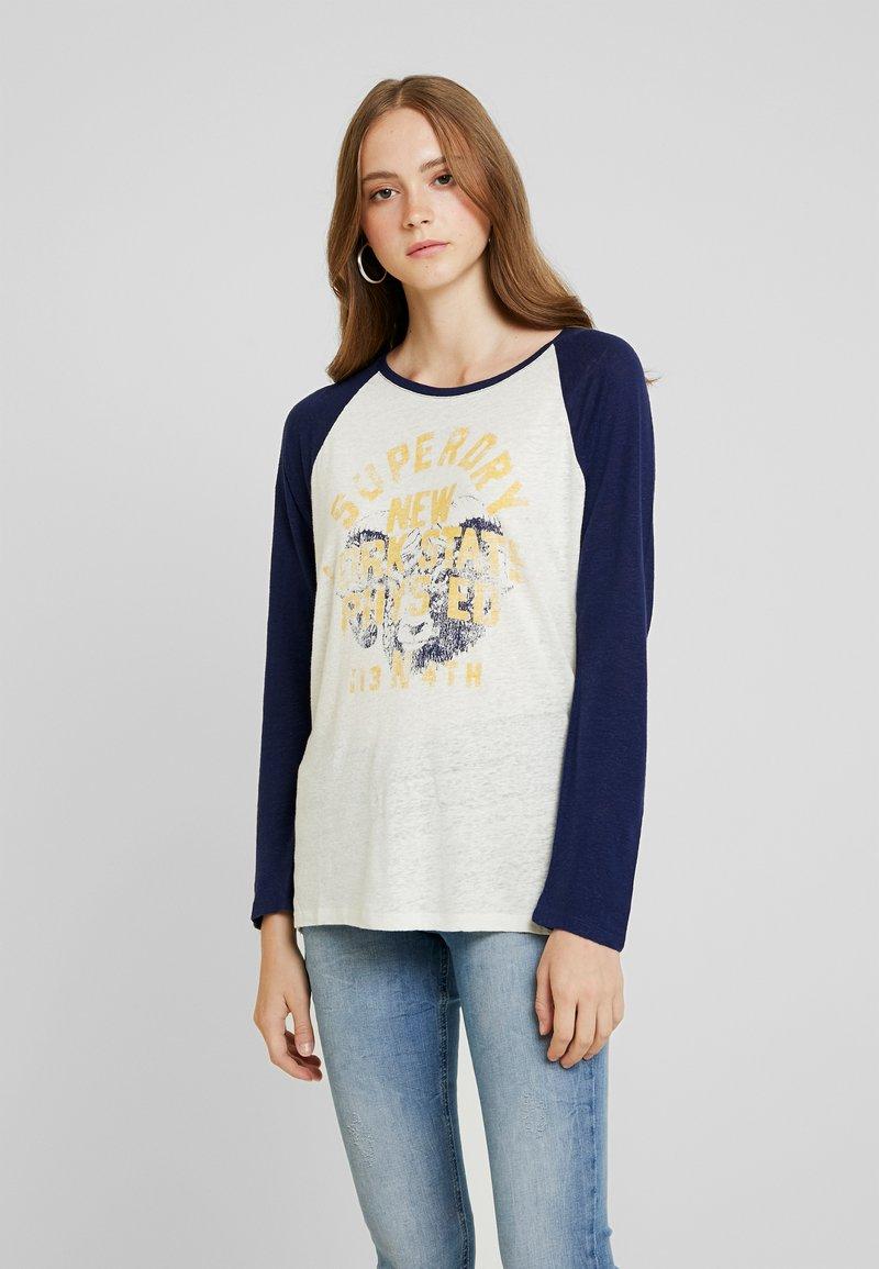 Superdry - BASEBALL - T-shirt à manches longues - beechwater blue