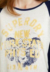 Superdry - BASEBALL - T-shirt à manches longues - beechwater blue - 5