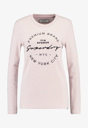 DUNNE STRIPE GRAPHIC - T-shirt à manches longues - pink