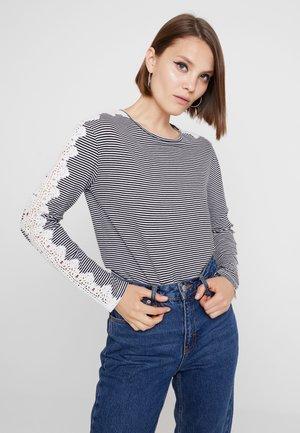 TRIM LONGSLEEVE - Long sleeved top - black