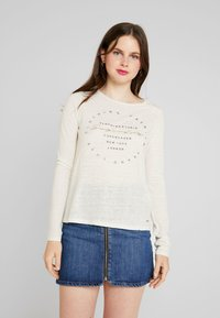 Superdry - GRAPHIC - Longsleeve - off white - 0