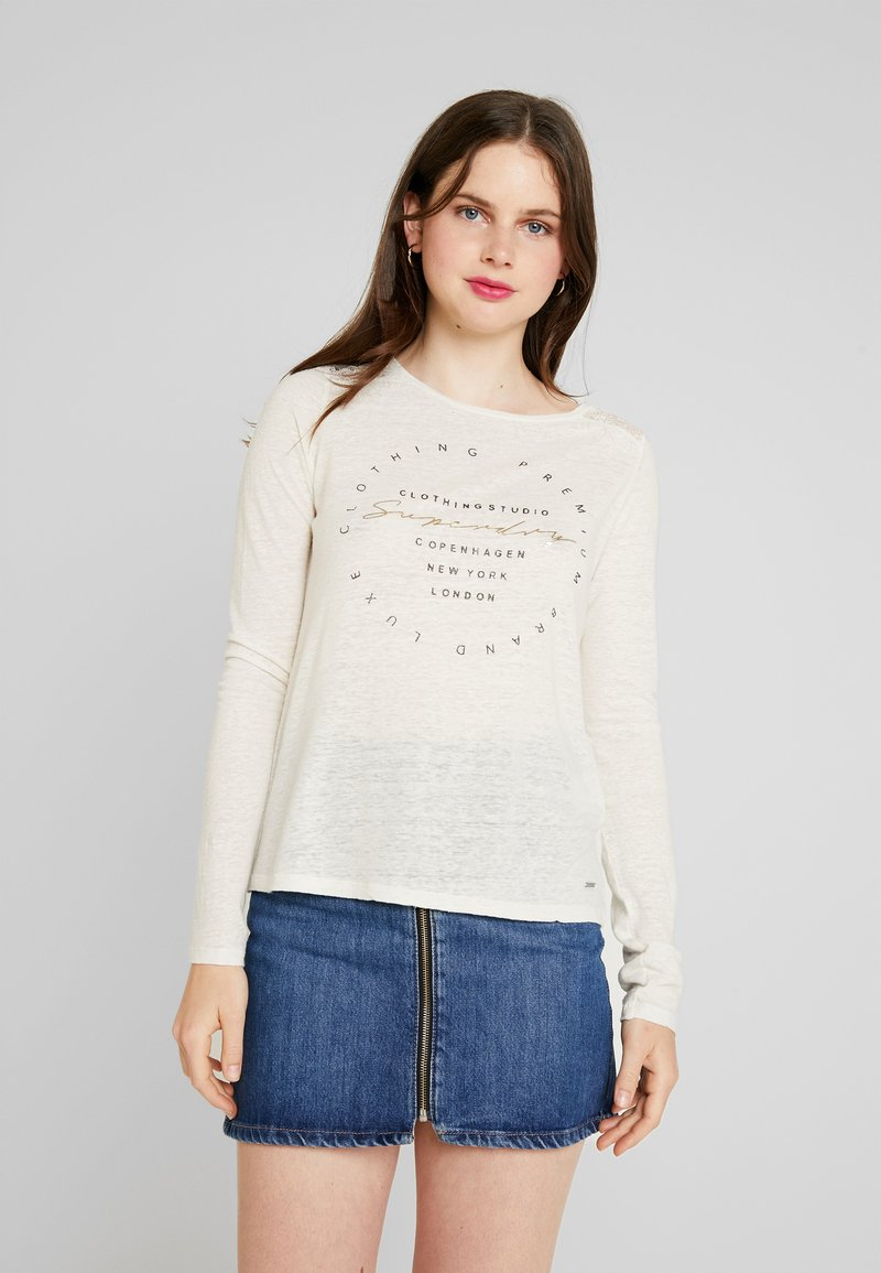 Superdry - GRAPHIC - Longsleeve - off white
