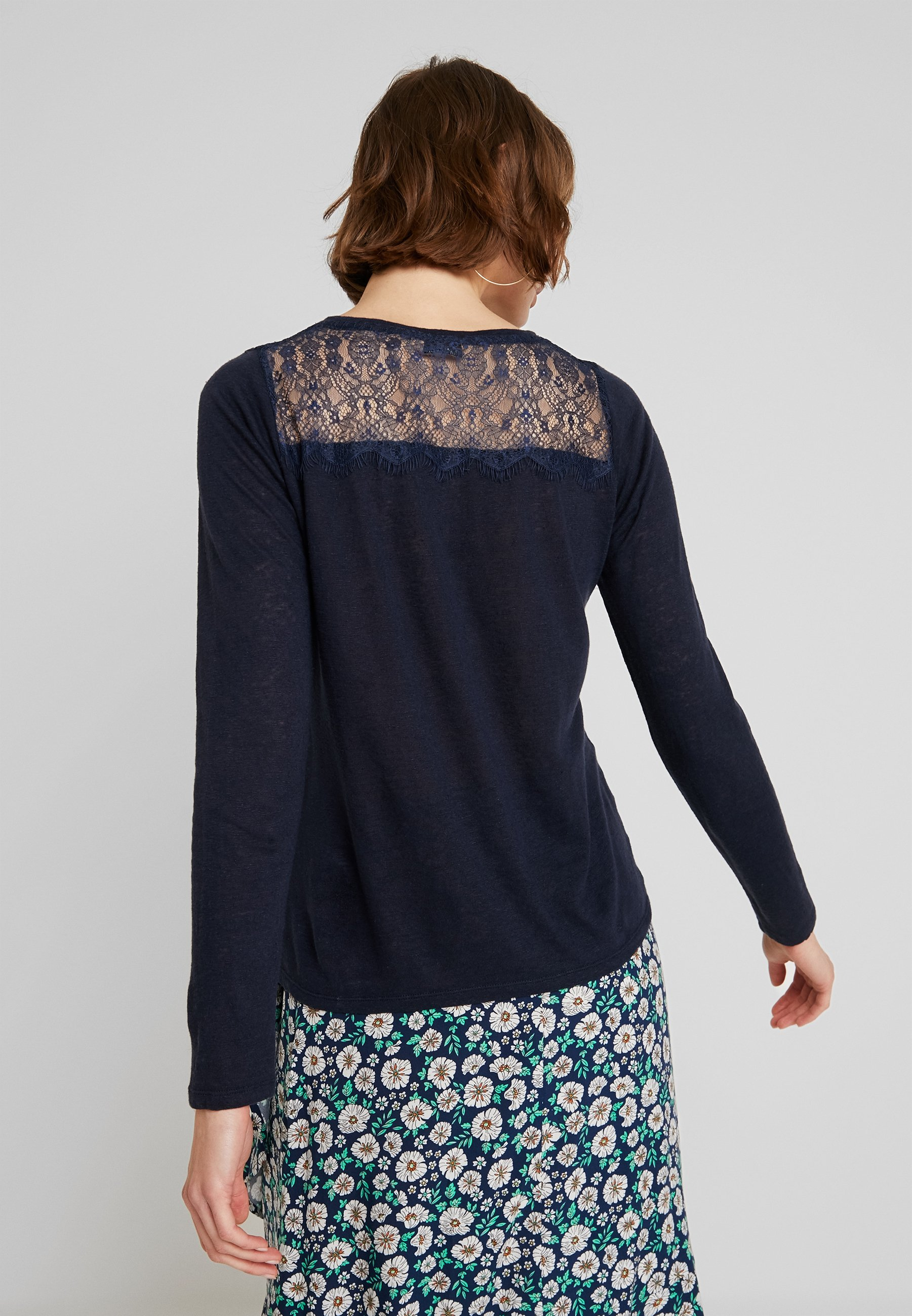 Manches Navy Rinsed Superdry GraphicT À shirt Longues drxeCBoW