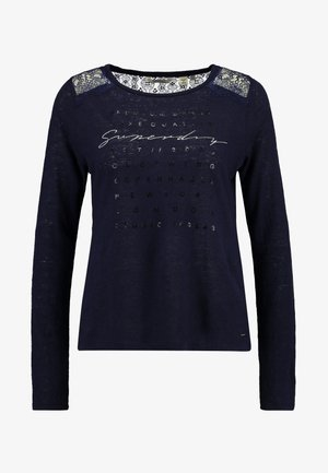 GRAPHIC - Long sleeved top - rinsed navy
