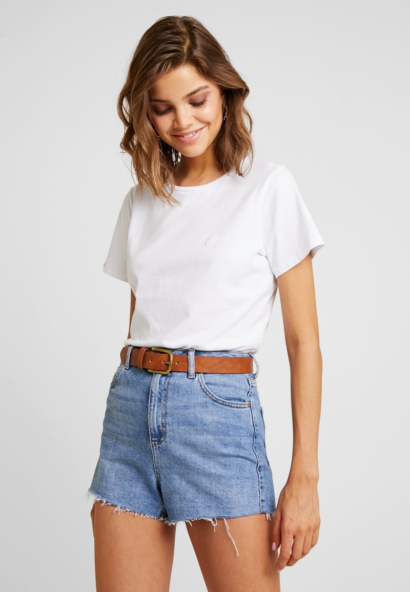 Superdry - ELITE CREW NECK TEE - T-shirt basic - white