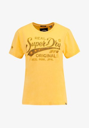 REAL ORIGINALS MOCK ENTRY TEE - Camiseta estampada - sporty ochre