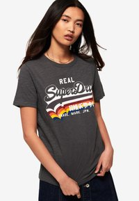 Superdry - TEE - T-shirt imprimé - black - 0