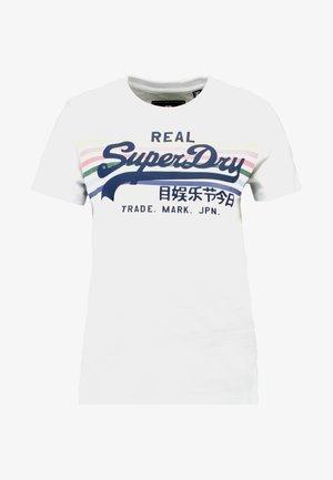 VINTAGE LOGO RODEO RAINBOW STRIPE ENTRY - T-shirt imprimé - optic