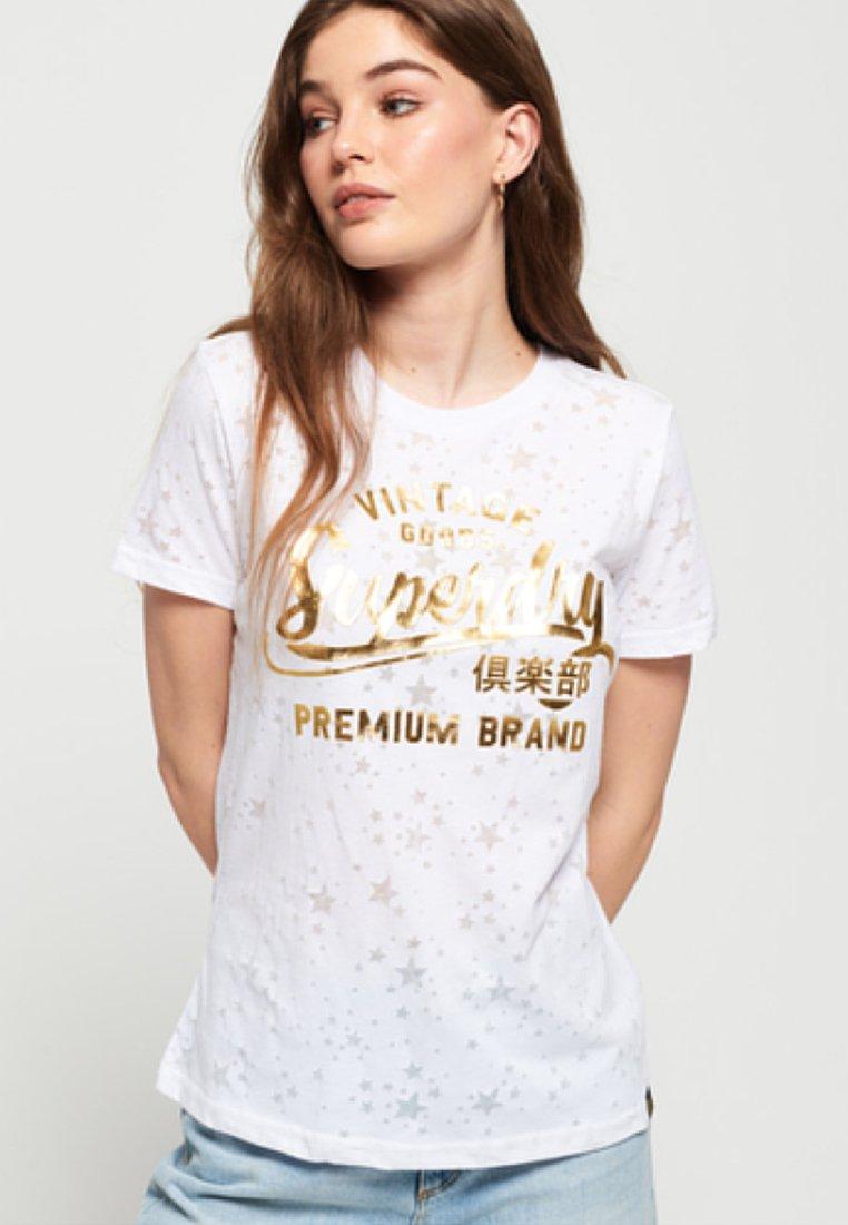 Superdry - T-Shirt print - white