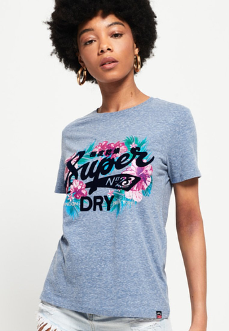 Superdry - TROPICAL BURST - Camiseta estampada - blue