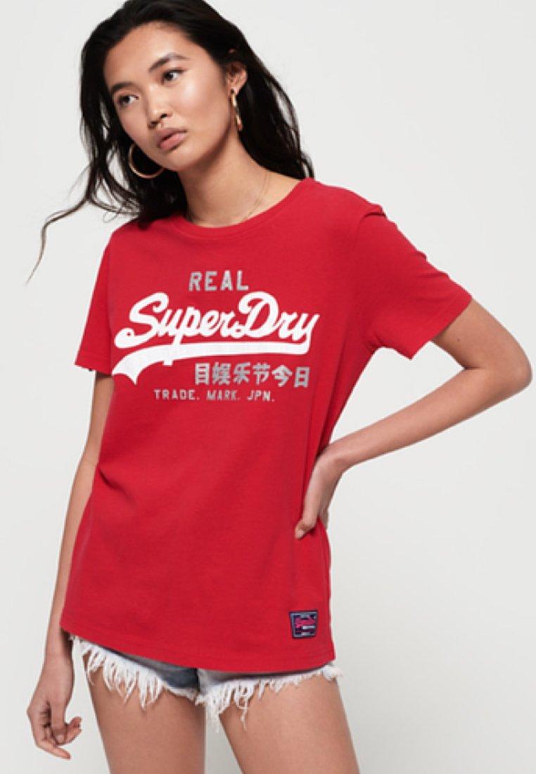 Superdry STYLU VINTAGE - T-shirt imprimé red