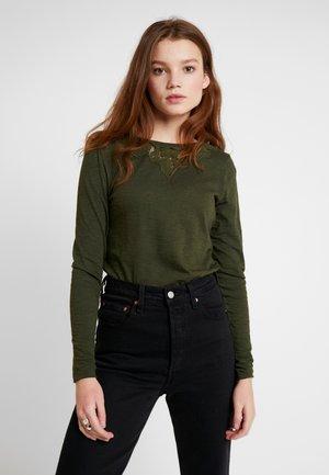 ELLIS - T-shirt à manches longues - army khaki