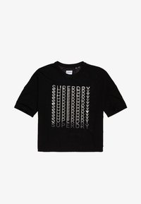 Superdry - MIT FOLIEN-GRAFIK - T-shirt con stampa - black - 5