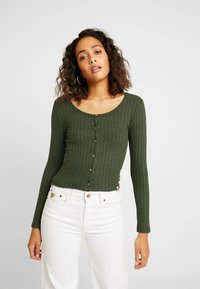 Superdry - BUTTON THROUGH - Cardigan - ive green - 0